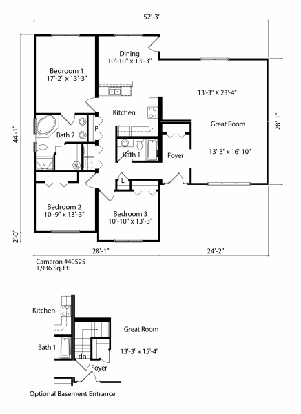 Cameron Rancher FLoorplan