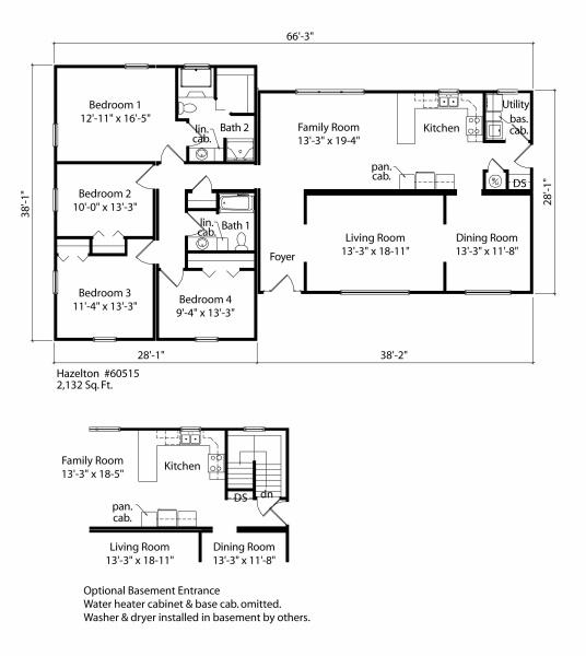 Lud hudgins modular homes better living hazelton rancher for 133 hazelton floor plans