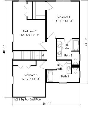 Rutledge floorplan - second floor