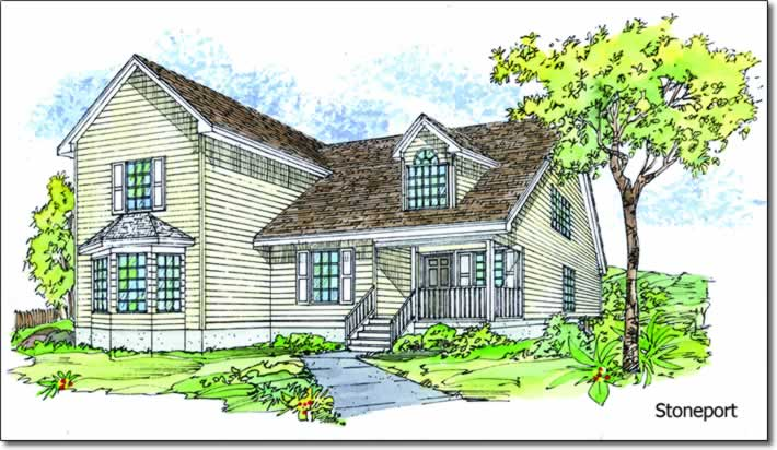 Lud hudgins modular homes better living stoneport two for Two story model homes