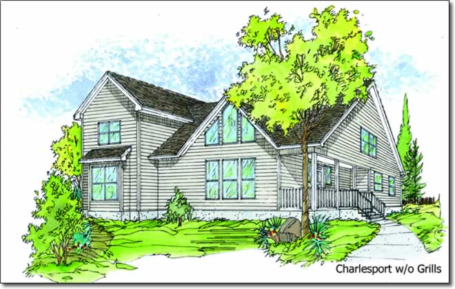 Lud hudgins modular homes better living charlesport two for Two story model homes